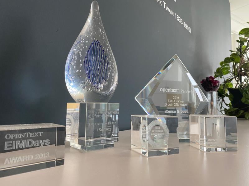 OpenText Awards der iXenso Group